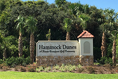 hammock dunes is a private gated  munity located on the northeast coast of florida  it includes over two and one half miles of oceanfront property as     about hammock dunes  rh   hammockdunes